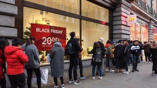 Black Friday queues calm despite record £8 billion spend expected