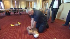 Highway patrol officers trained in crucial first aid