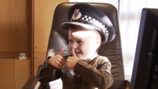 Jayden the boy who's a cop for a day