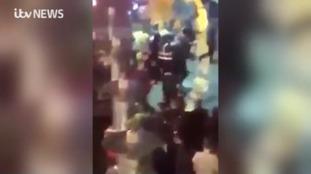 Violent scenes in Liverpool