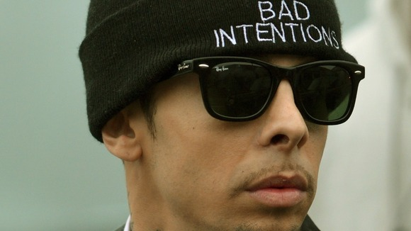 Dappy is appearing in court under his real name of Dino Costas Contostavlos