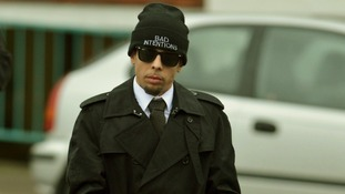Dappy arriving at Guildford Crown Court today