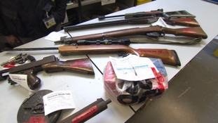 Some of the rifles which have been handed in as part of the amnesty.