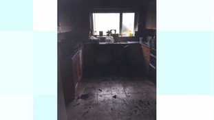 The damage to Michelle Harvey's home after the fire