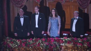 The royal couple sang the national anthem to mark the start of the evening.