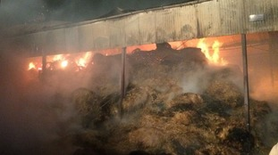 Huge barn fire in County Durham treated as arson