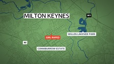 Teenaged girl raped in Milton Keynes