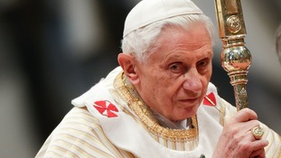 Pope Benedict at the Epiphany Mass yesterday