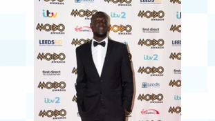 Stormzy arriving at the Mobo Awards 2015, held at the First Direct Arena, Leeds.