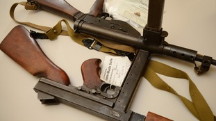 Al Capone-era machine guns handed in during Plymouth weapons amnesty