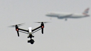 Dozens of 'near misses' between drones and planes are reported every year.
