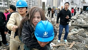 Two killed and dozens injured after huge blast in China