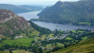 A view of Glenridding and Ullswater