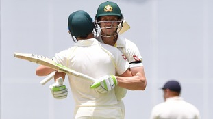 Australia wins first Ashes test by 10 wickets after second innings partnership of 173