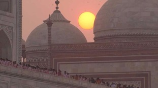 The Taj Mahal was left out of a state tourism brochure.