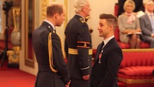 Rea recently received his MBE at Buckingham Palace.