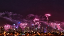 New Year's Eve fireworks in Melbourne