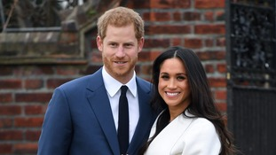 Harry and Meghan made their first appearance at Kensington Palace after the announcement