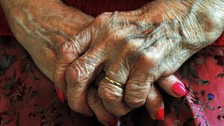 pic of woman in care home