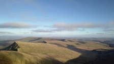 Pen y Fan and Corn Du, the highest points in southern Britain
