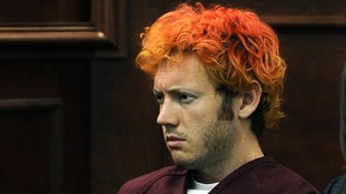 Colorado shooting suspect James Eagan Holmes at his first court appearance in July 2012