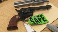 More than 70 guns have been removed from the streets of Northamptonshire.