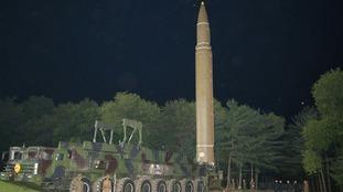 A North Korean Hwasong 14 missile