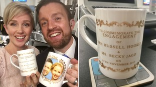 The waits over! Mugs for our very own happy (TV) couple...