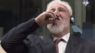 War criminal Slobodan Praljak 'dies after taking poison' in court