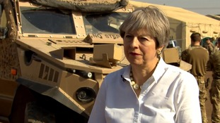 Theresa May praises 'military successes' in retaking Mosul as she becomes first major foreign leader to visit Iraq