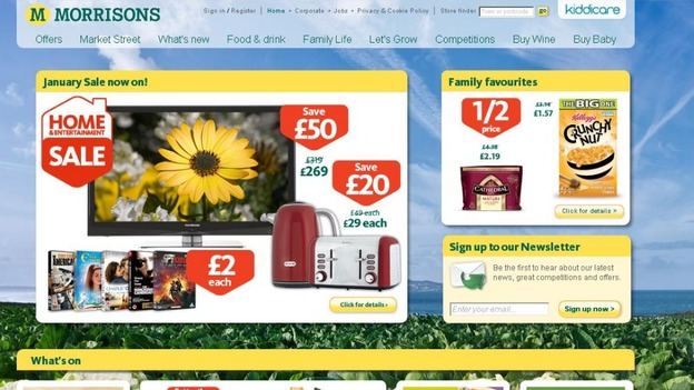Morrisons&#x27; website