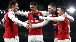 Five-star Arsenal continued their impressive home form in the Premier League with a mauling of hapless Huddersfield