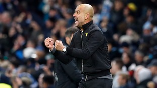 Guardiola could not contain his emotions as Sterling's last-minute winner maintained Man City's excellent winning form.