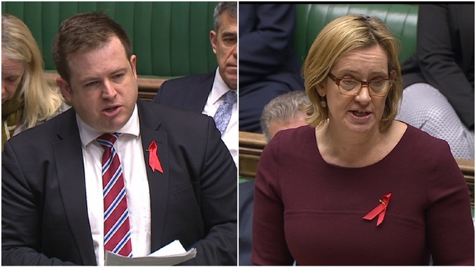Stephen Doughty MP and Home Secretary Amber Rudd