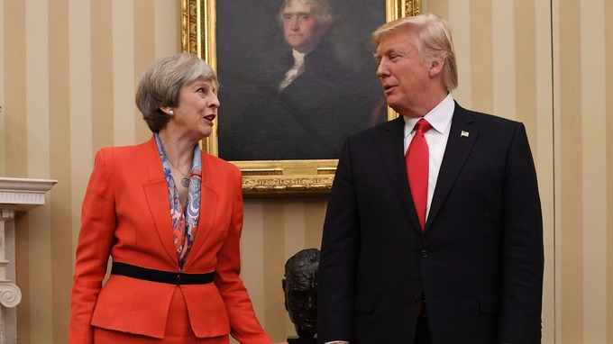 Theresa May is facing calls to cancel Donald Trump's state visit.