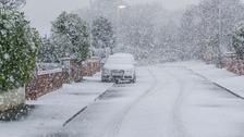 Snow showers in Gorleston, Norfolk
