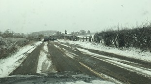 Overturned vehicle near Mordon in County Durham.