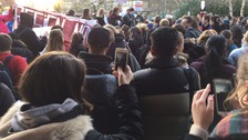 The protest went on despite Bath University's Vice Chancellor announcing that she would step down next year.