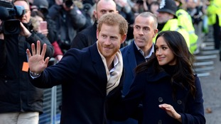 The couple greeted hundreds of royal fans.