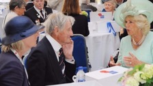 Jim Booth (centre) with the Duchess of Cornwall in 2012.
