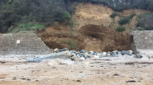 The Sea Wall at Fermain was damaged in 2014