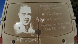 Some of the images have a serious image - trying to tracing missing RAF serviceman Corrie McKeague.