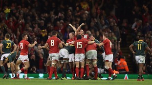 Wales edge 24-22 win over South Africa in Cardiff