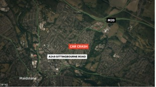 Man arrested after woman seriously injured in Kent crash