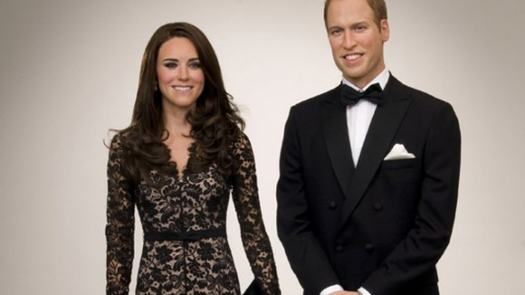 Wax work figures of Royal couple