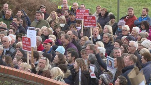 Hundreds protest against 700 new homes in rural Hampshire