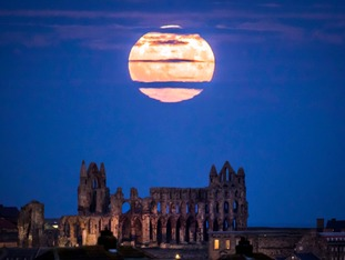 Supermoon over Whitby