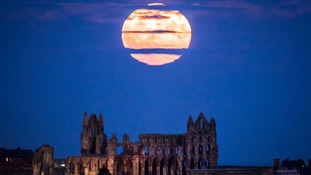 'Supermoon' rises over the UK