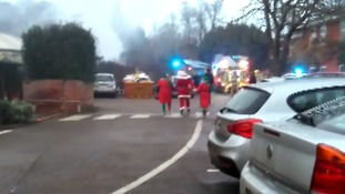 Santa was forced to evacuate following the fire.