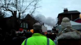 The smoke from the fire could be seen in Woodbridge town centre.